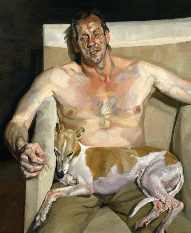 Eli and David (2005-06), from Lucian Freud Portraits at the National Portrait Gallery.